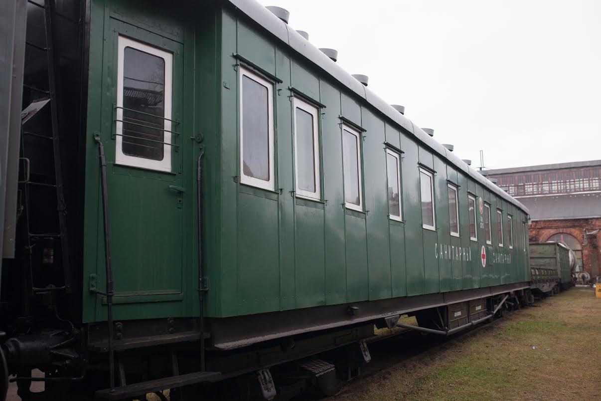 В Вологде воссоздали вагон санитарного поезда времен войны