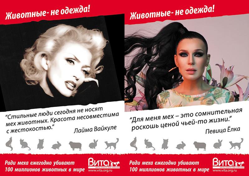 """В Вологде началась антимеховая кампания """"Животные - не одежда"""""""