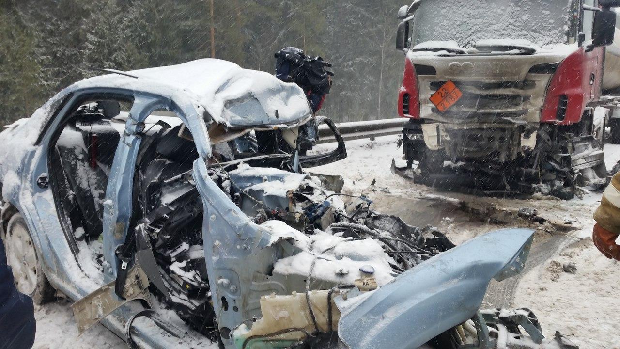 52-летний мужчина погиб в ДТП на трассе Вологда-Новая Ладога