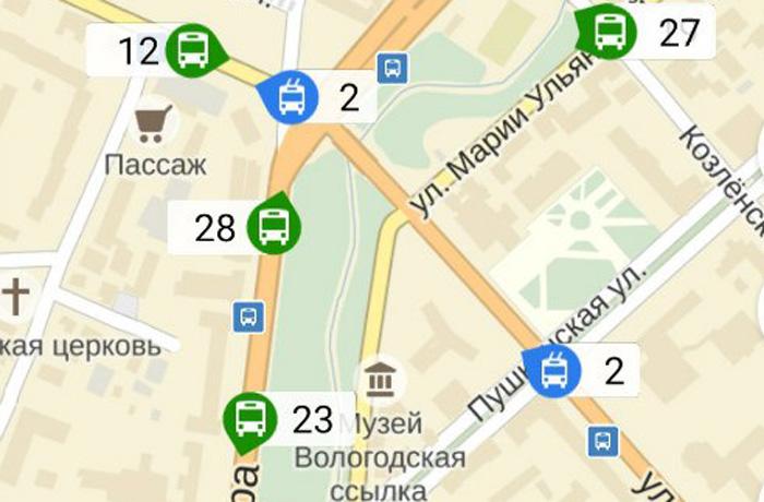 Яндекс.Транспорт приехал в Вологду