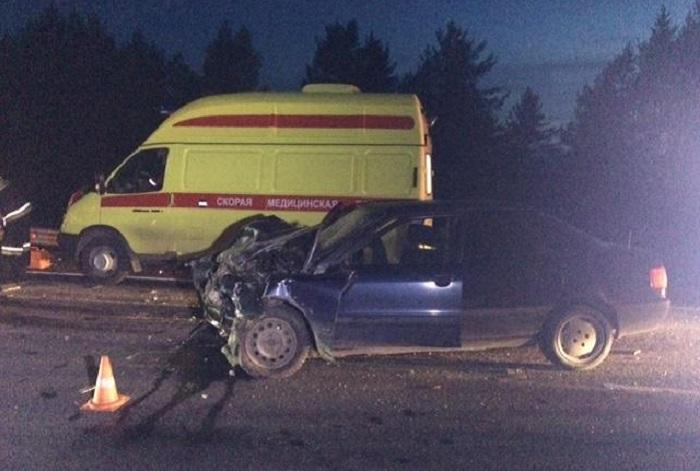 В Череповецком районе три машины столкнулись по вине пьяного водителя без прав