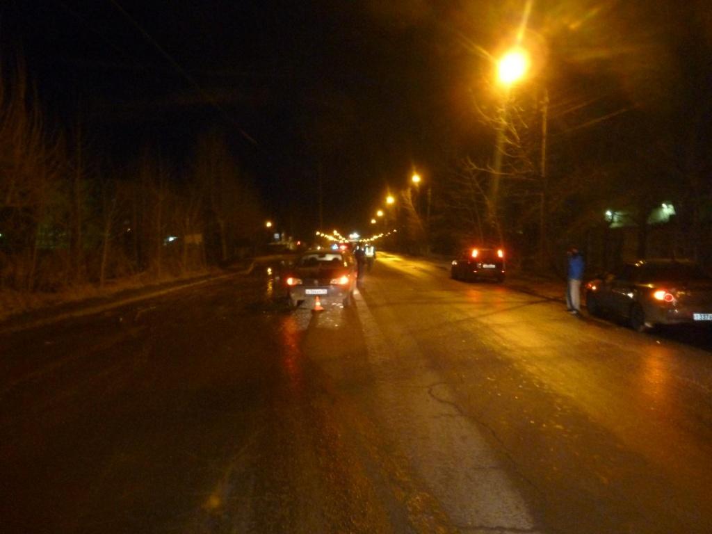 В Вологде ночью сбили пьяную девушку