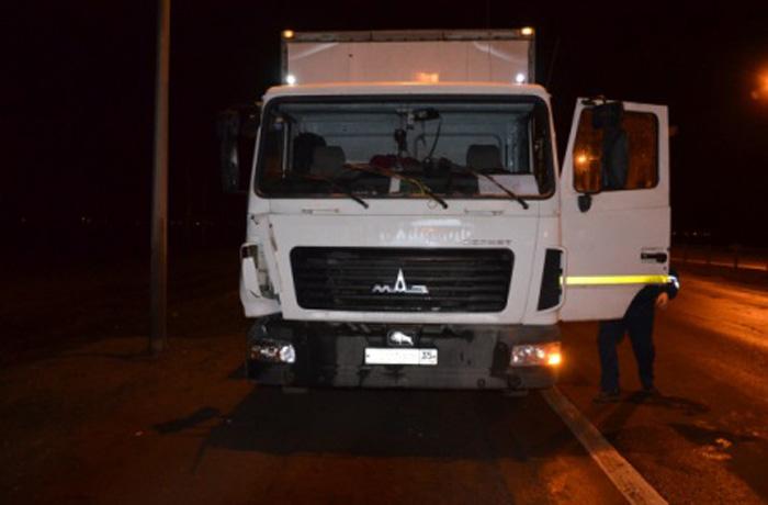 Грузовик задавил пешехода в Вологодском районе