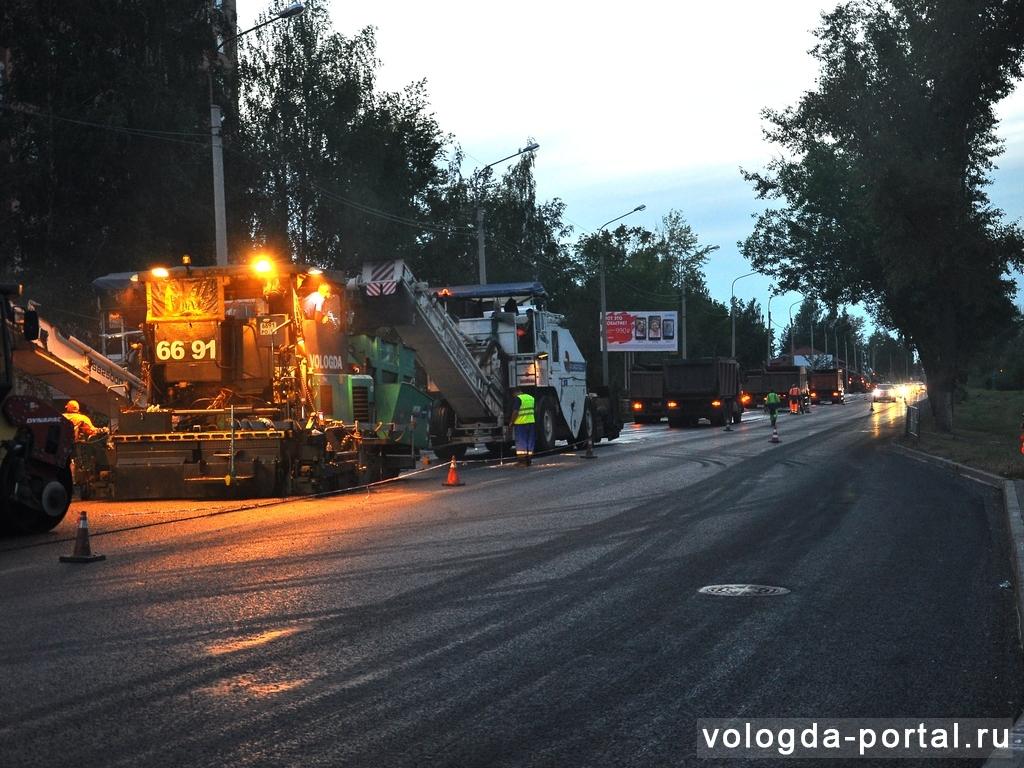 В Вологде освоили 200 миллионов федеральных рублей на ремонт дорог