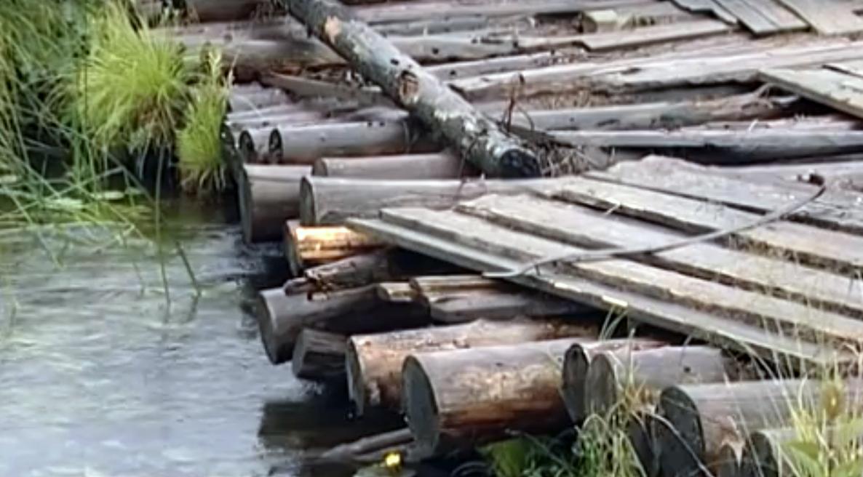 Деревня в Вашках оказалась отрезанной от внешнего мира из-за рухнувшего моста