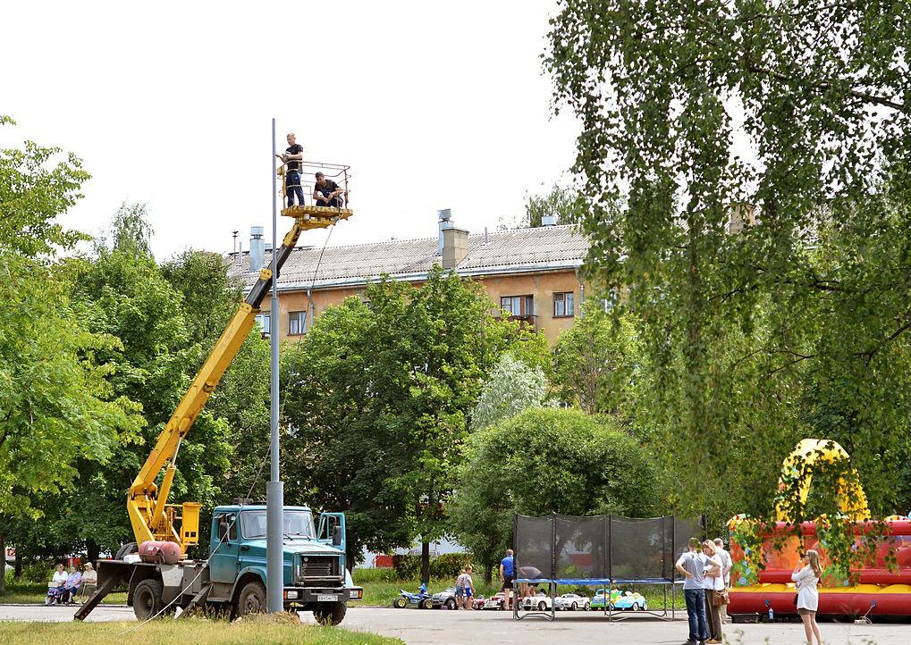 На площади Революции в Вологде поставят торшерные светильники