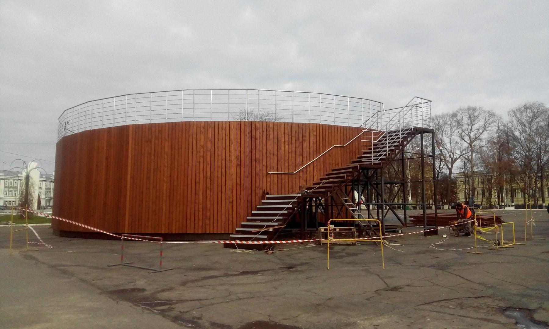 В Вологде начали пилить амфитеатр