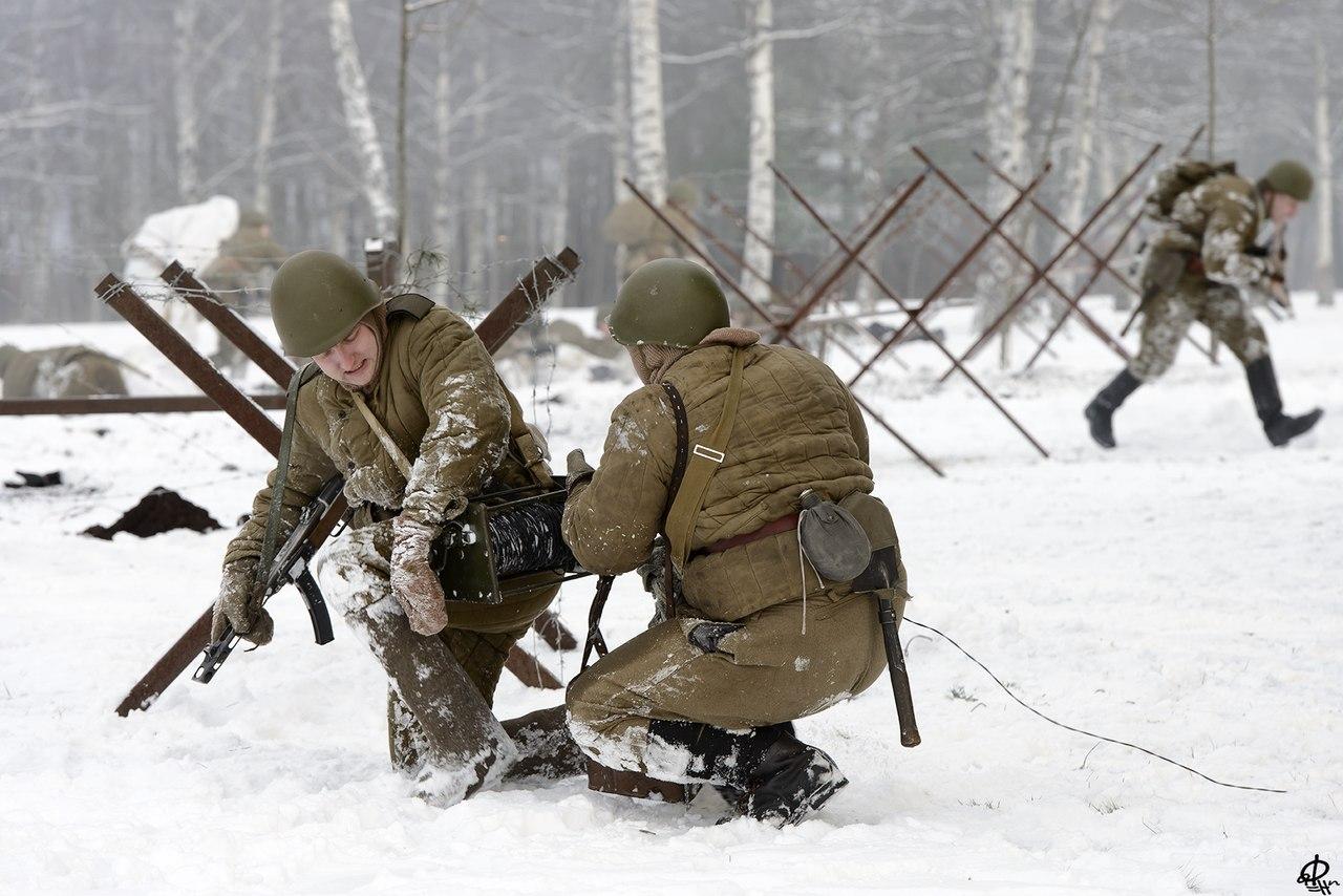 Вологжане приняли участие в реконструкции освобождения Ленинграда от фашистской блокады