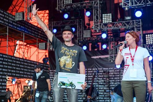 Череповчанин выиграл мотоцикл на «Нашествии»