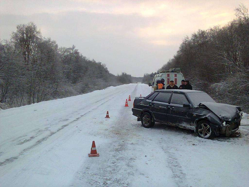 ВШекснинском районе столкнулись ВАЗ-2110 иВАЗ-2115, погибла женщина