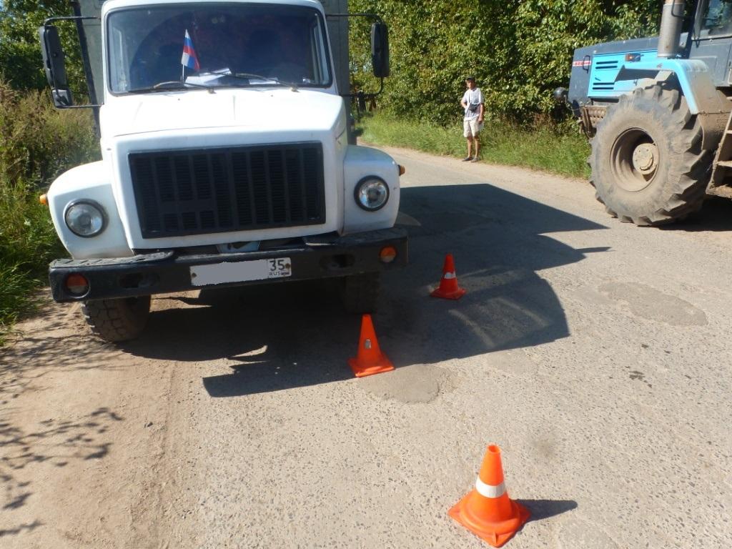 В Молочном 9-летний велосипедист упал под колеса ехавшего навстречу грузовика