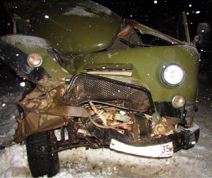 Смертельное ДТП в Сямженском районе: «буханка» врезалась в КамАЗ
