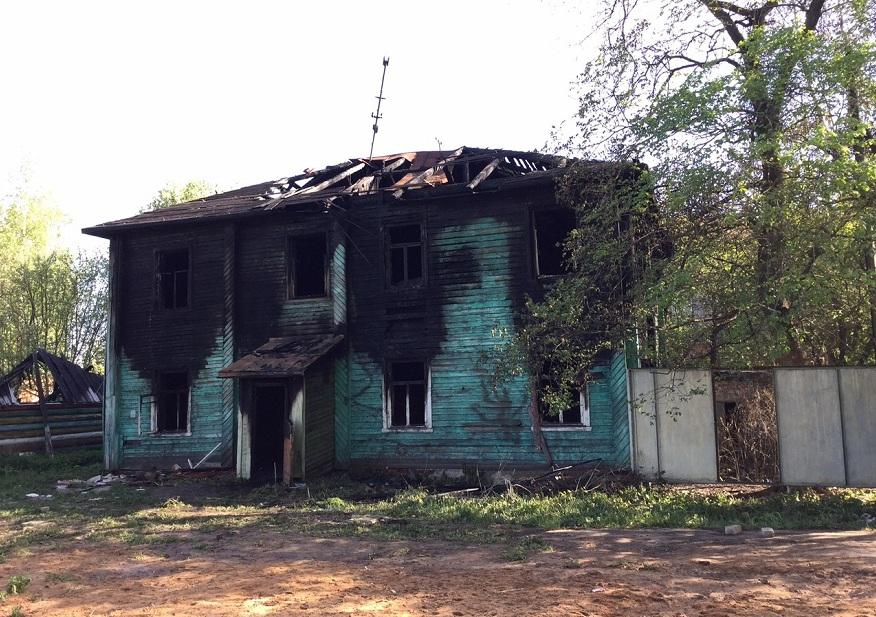 В Вологде горела станция юннатов в Ковыринском парке