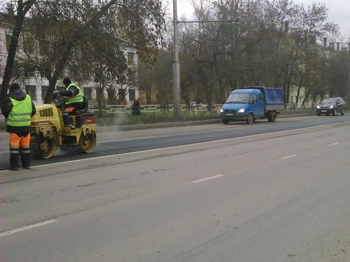 В Вологде устранили колейность на пяти дорогах
