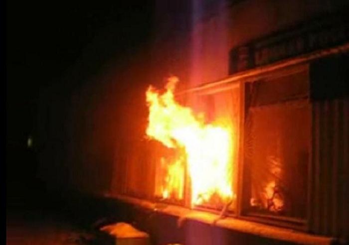Задержанный погиб в пожаре в опорном пункте полиции в Вологодской области