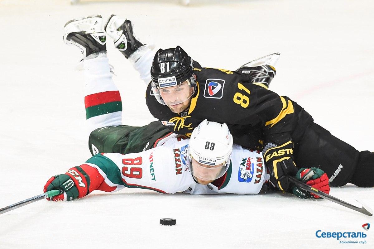 """Хоккеисты """"Северстали"""" проиграли казанскому """"Ак Барсу"""""""