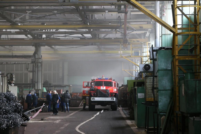 НаПодшипниковом заводе произошел пожар