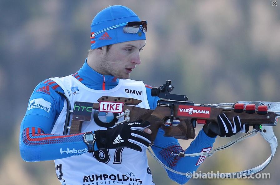 Максим Цветков занял 17 место в гонке преследования на этапе Кубка мира по биатлону