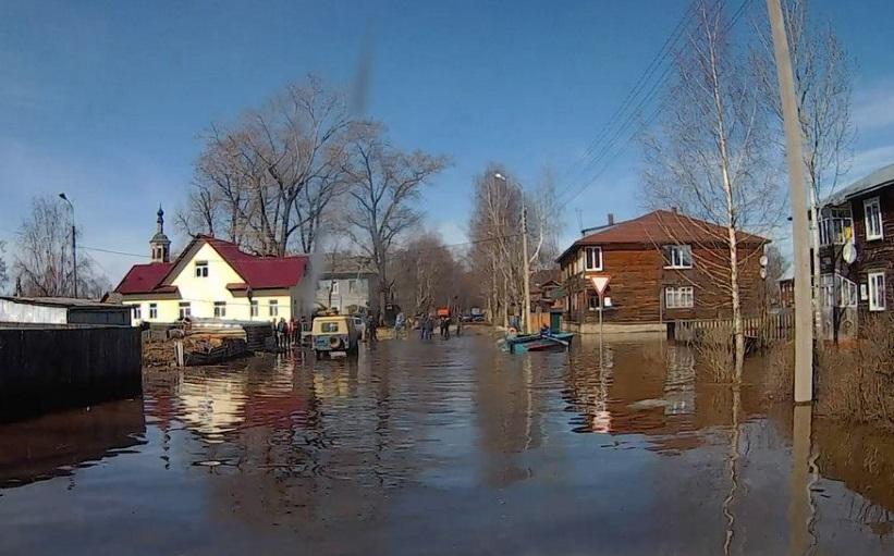 В зоне подтопления в Великоустюгском районе остаются 197 домов