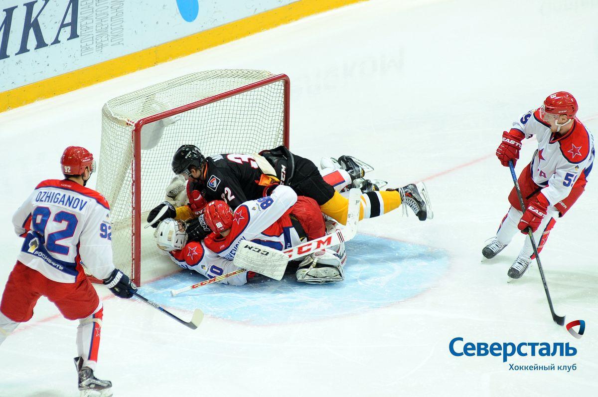 «Северсталь» обыграла ЦСКА в рамках регулярного чемпионата КХЛ