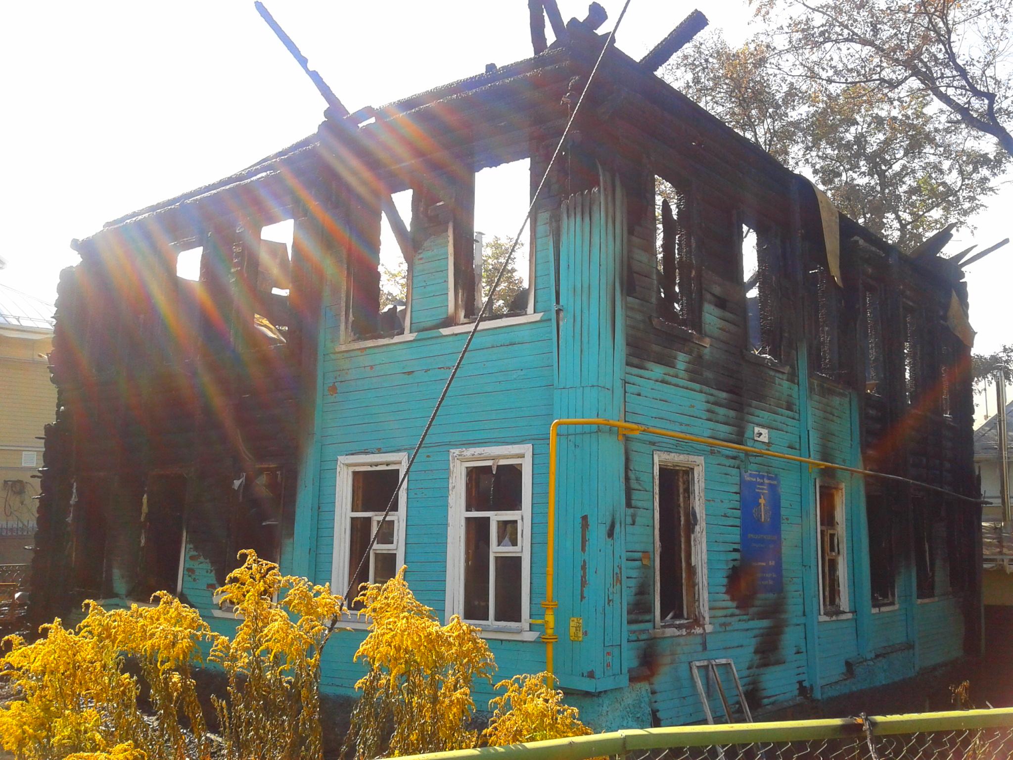 В Вологде сгорел дом евангелистов