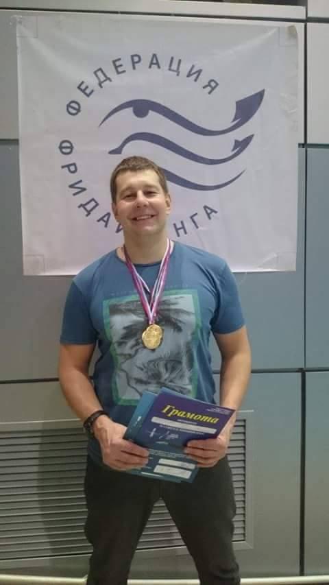 Череповчанин стал чемпионом России в подводном плавании с задержкой дыхания