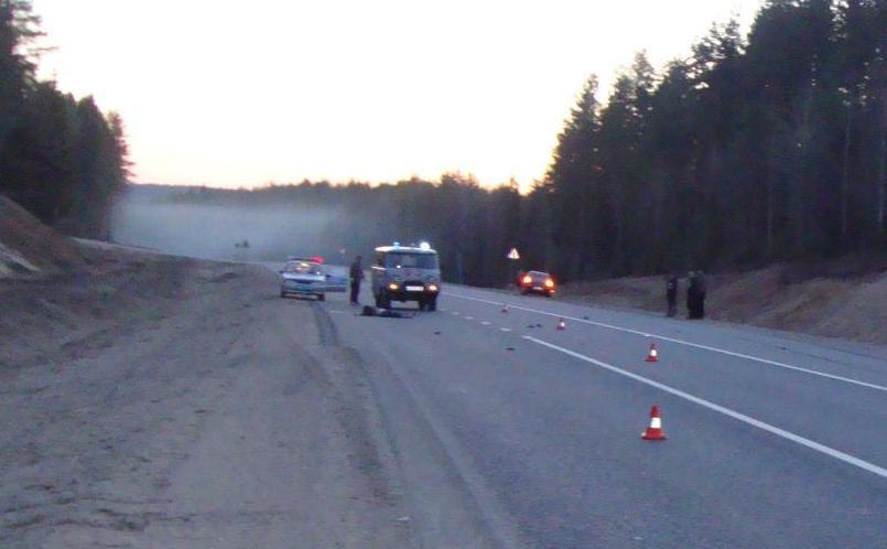 Женщина-пешеход погибла на трассе в Вологодской области