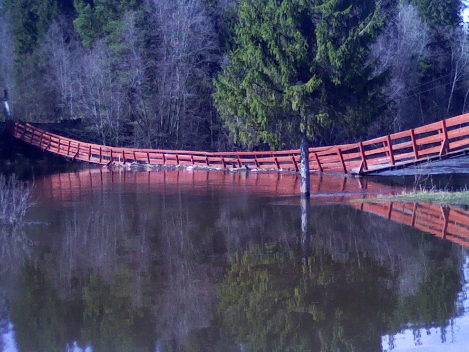 Уровень воды в Никольске продолжает повышаться