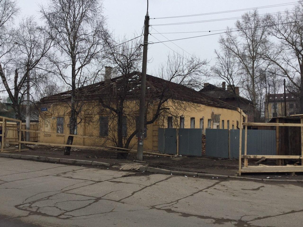 В Вологде незаконно разбирают дом XVIII века