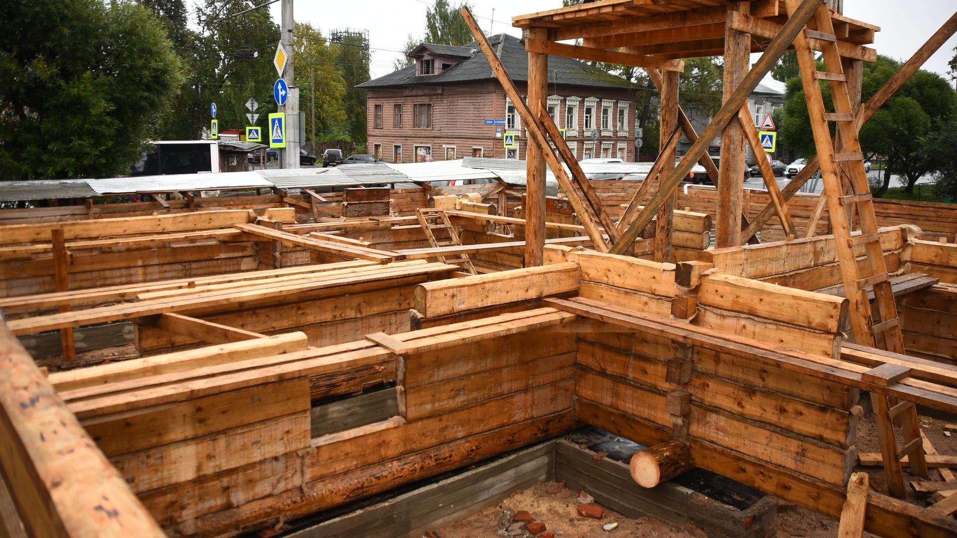 В Вологде реставрируют купеческий дом XIX века на улице Чернышевского