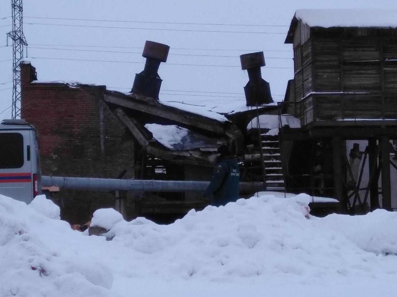 В Соколе выясняют причины обрушения котельной, из-за которого часть города осталась без тепла