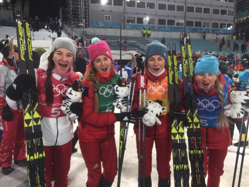 Вологодская лыжница Анна Нечаевская стала бронзовым призером Олимпиады в составе Сборной России