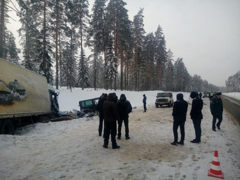 Микроавтобус, ехавший из Вологды в Санкт-Петербург, врезался в грузовик: девять человек погибли