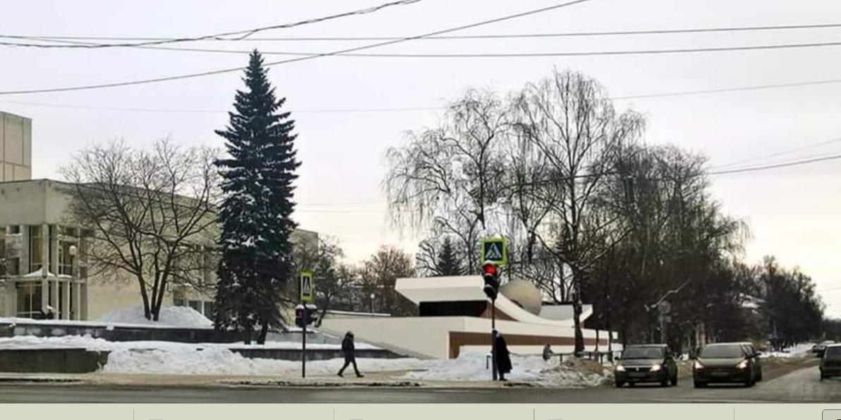 Жителям предлагают проголосовать за один из шести проектов арт-пространства возле драмтеатра в Вологде