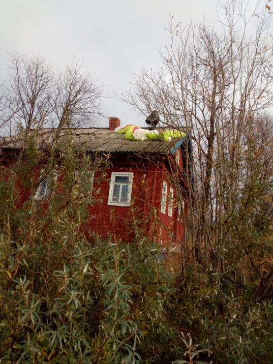 В Вытегорском районе парапланеристу пришлось приземлиться на крышу дома