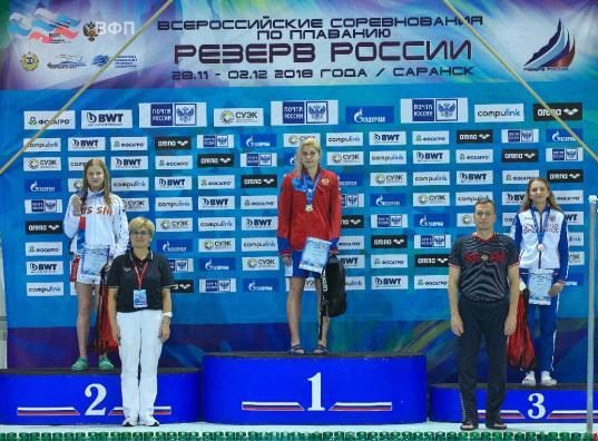 Вологжанка Анастасия Маркова завоевала серебро на Всероссийских соревнованиях по плаванию
