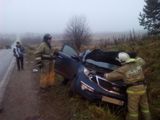 В Грязовецком районе водитель «Киа» сбил насмерть перебегавшую дорогу женщину