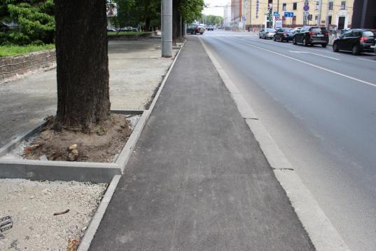 Ремонт тротуаров в Вологде планируют закончить до конца октября