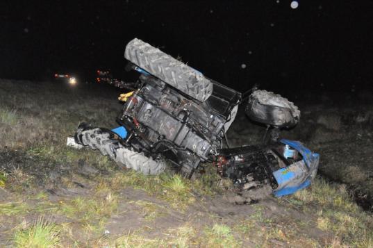 В Вологодском районе трактор развалился на две части после столкновения с автобусом