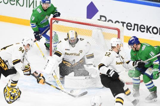 Хоккеисты «Северстали» потерпели пятое поражение подряд