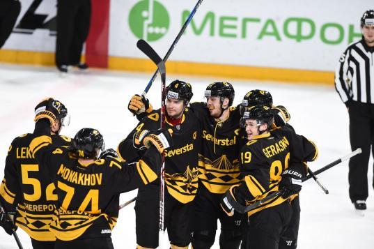 Череповецкая «Северсталь» поднялась на 10-ю строчку Западной конференции КХЛ