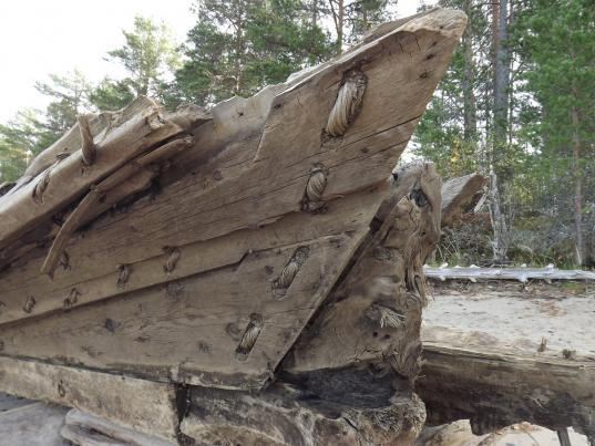 Найденное на берегу Онежского озера поморское судно XVII века установят на набережной Вытегры