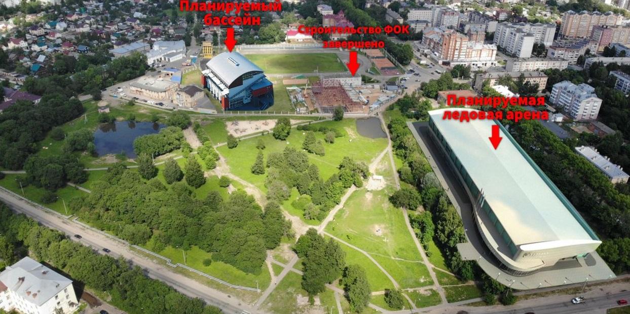 Жителям Вологды предложили выбрать другое место для новой ледовой арены вместо Ковыринского парка